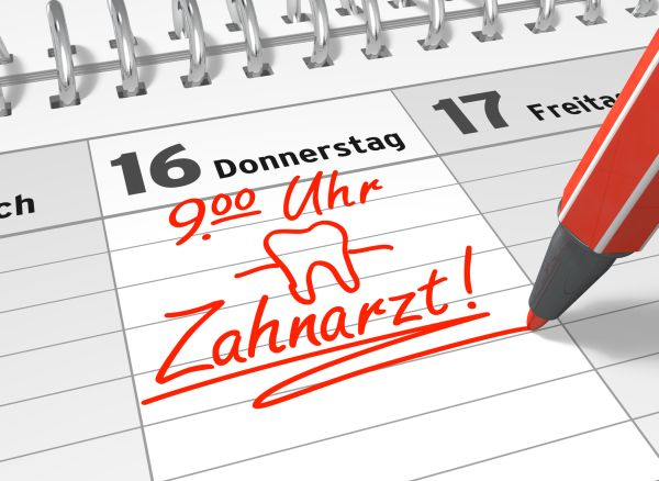 Kalender zur Erinnerung an die Parodontosebehandlung